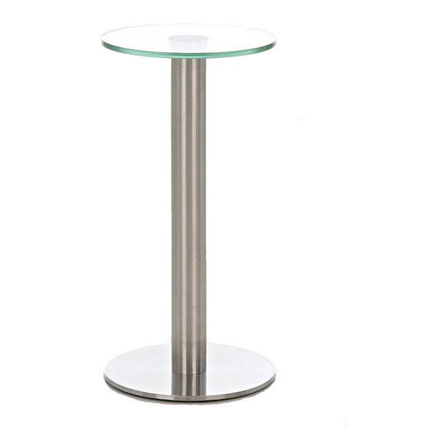 clp glastisch marida beistelltisch mit edelstahlgestell kaffeetisch mit einer 1 cm starken. Black Bedroom Furniture Sets. Home Design Ideas