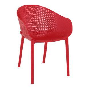 CLP Stuhl SKY I Gartenstuhl aus Kunststoff I Sitzhöhe von 45 cm I wetterfester Lehnstuhl