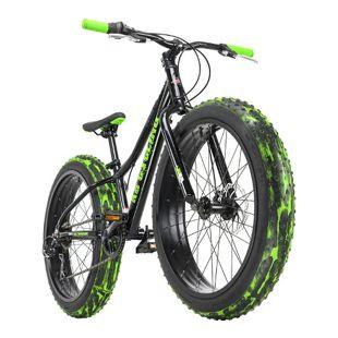 KS Cycling Jugendfahrrad Fatbike 24'' Crusher Schwarz RH 30 cm KS Cycling