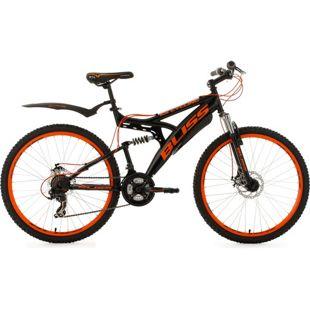KS Cycling Fully Mountainbike Bliss 26 Zoll schwarz-orange
