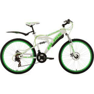KS Cycling Fully Mountainbike Bliss 26 Zoll weiß-grün