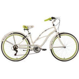 KS Cycling Beachcruiser 6 Gänge Bellefleur 26 Zoll weiß-grün