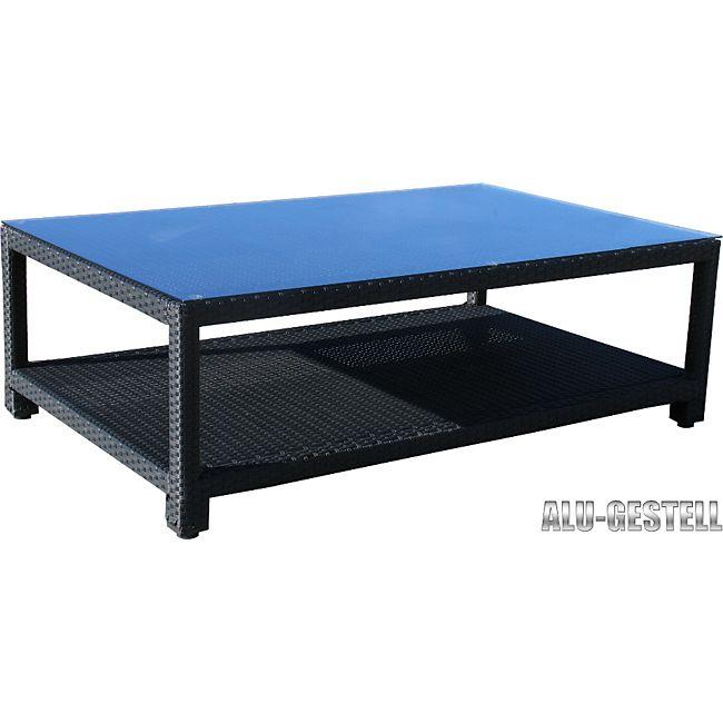 famous home rattan lounge tisch 120x80cm couchtisch beistelltisch schwarz online kaufen. Black Bedroom Furniture Sets. Home Design Ideas
