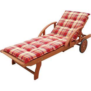 Grasekamp Gartenliege Rio Grande mit Auflage  Sommerfrisch Holz Liege Sonnenliege  Relaxliege