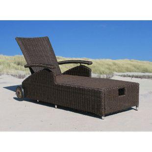 Famous Home Gartenliege Liegestuhl Sonnenliege  Relaxliege Lanzarote Premium Ibiza -  Braun