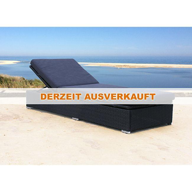 famous home rattan liege schwarz mit kissen schwarz gartenliege sonnenliege relaxliege online. Black Bedroom Furniture Sets. Home Design Ideas