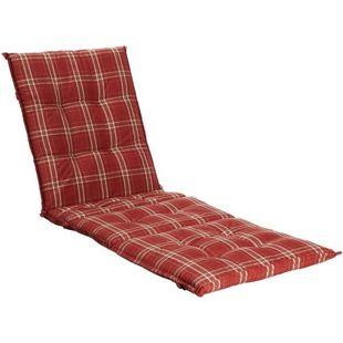 Grasekamp Auflage Rubinrot für Gartenliege  Liegestuhl Sonnenliege Relaxliege