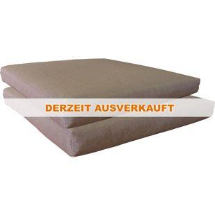 Famous Home 2 Stück Sitzkissen 49x49x7cm Kissen  Gartenkissen Polster Auflage Taupe Braun