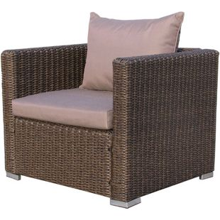 Famous Home Rattan Loungesessel 80cm Pepe Braun Sofa  Relaxsessel Schlafsessel Lounge Sessel