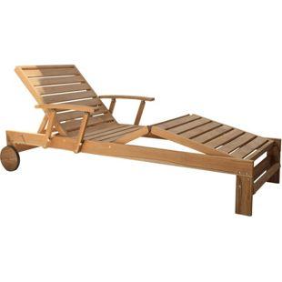 Grasekamp Teak Gartenliege Liegestuhl Sonnenliege  Relaxliege Gartenmöbel