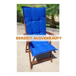 Grasekamp Auflage Kissen Blau zu Gartensessel  Klappstuhl