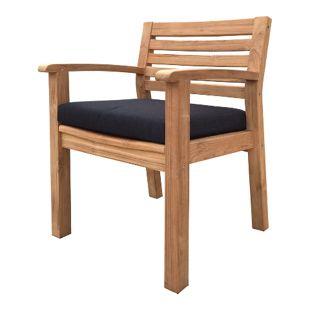 Grasekamp Sitzkissen Anthrazit zu Sessel und Stuhl