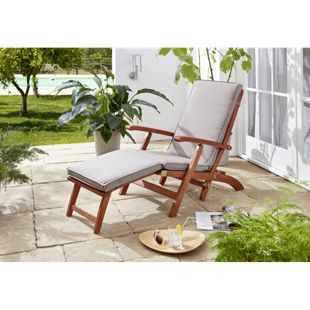 Grasekamp Auflage Sand zu Deckchair Santos  174x51x6cm Gartenliege Liegestuhl  Sonnenliege Relaxliege