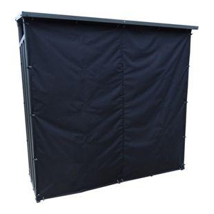 Grasekamp Kaminholzunterstand XL 200x70x203cm mit  Wetterschutz Set Kaminholzregal Kamin  Holzofen Regal
