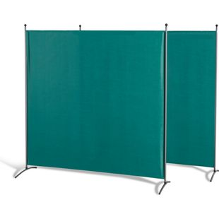 Grasekamp 2 Stück Stellwand 180 x 180 cm Grün  Paravent Raumteiler Trennwand  Sichtschutz