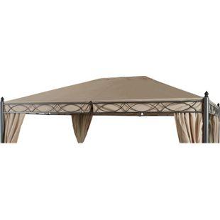 Grasekamp Ersatzdach zu Garten-Pavillon ROM 3x4  Beige Party-Zelt Terrassen-Dach
