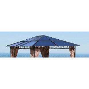 Grasekamp Ersatzdach Hardtop Pavillon 3x3,6m  Doppelstegplatten Polycarbonat Braun