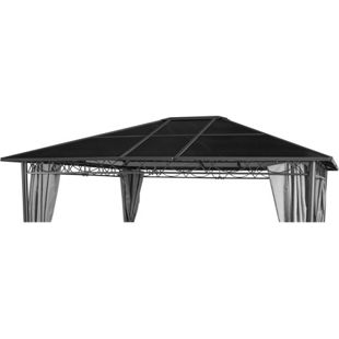 Grasekamp Ersatzdach Hardtop Pavillon Meran 3x3,6m  Doppelstegplatten Polycarbonat Braun