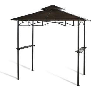 Grasekamp Hardtop BBQ Grill Pavillon 1,5x2,4m  Doppelstegplatten Polycarbon  Grillpavillon
