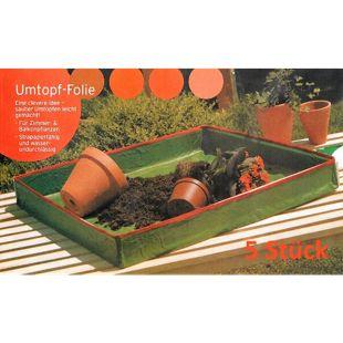 Grasekamp 5 Stück Umtopffolie Umtopfhilfe Allzweck  Pflanzunterlage Arbeitsunterlage  Universal