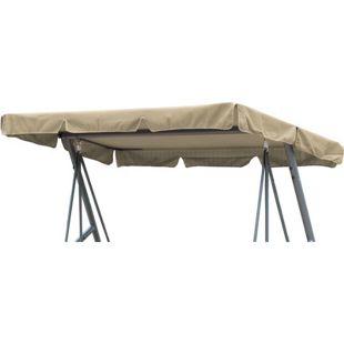 Grasekamp Ersatzdach Universal Hollywoodschaukel  Beige Ersatz-Bezug Sonnendach Dachplane