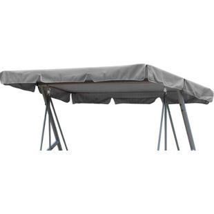 Grasekamp Ersatzdach Universal Hollywoodschaukel  Grau Ersatz-Bezug Sonnendach Dachplane
