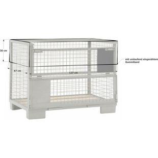 Grasekamp Abdeckhaube Gitterbox 127 x 87 x 30 cm  PVC Transparent Gummizug wasserdicht UV  stabil