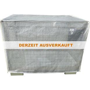Grasekamp Schutzhülle Gitterbox 125x85x95cm mit 2  Reißverschlüssen Abdeckhaube Abdeckplane  Gittergewebe