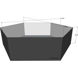 Grasekamp Gartenteich Hochteich Teich Einsatz Ø  200cm