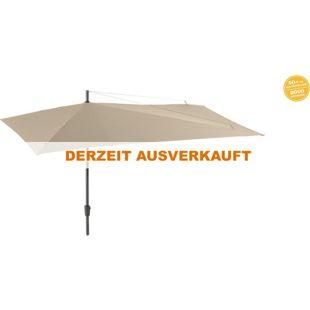 Grasekamp Sonnenschirm Asymmetrisch Balkon-Schirm 360x220cm Beige Terrasse Partyschirm
