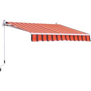 Grasekamp Wandmarkise Markise 395x250cm  Orange/Braun