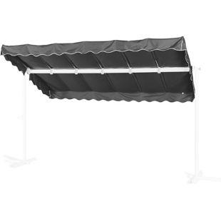 Grasekamp Ersatzdach Standmarkise Dubai Grau  Raffmarkise Ziehharmonika Mobile Markise