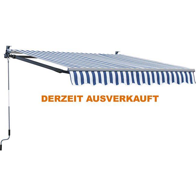 grasekamp markise 200x150cm blau wei sonnensegel sonnenschutz jalousien online kaufen. Black Bedroom Furniture Sets. Home Design Ideas