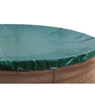 Grasekamp Abdeckplane für Pool oval 1100x550cm  Planenmaß 1180x630cm Sommer Winter