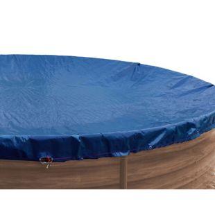 Grasekamp Abdeckplane für Pool oval 800x400cm  Royalblau  Planenmaß 880x480cm Sommer Winter