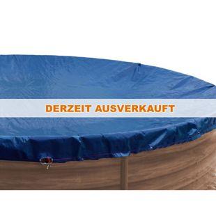 Grasekamp Abdeckplane für Pool rund 350-360cm  Royalblau  Planenmaß 420cm Sommer Winter