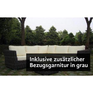 Baidani Rundrattan Garten Lounge Favorit inkl. 2. Bezugsgarnitur