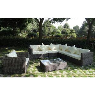 Baidani Rundrattan Garten Lounge Renegade inkl. 2. Bezugsgarnitur