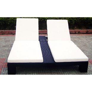 Baidani Rattan Garten Lounge Doppel Liege Relax