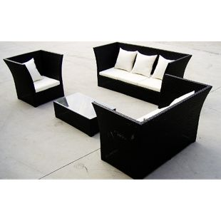 Baidani Rattan Garten Lounge Lifestyle