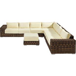Baidani Rundrattan Garten Lounge Sensation Braun Select