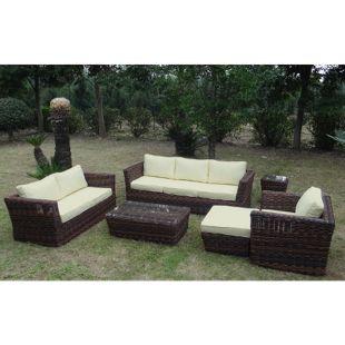 Baidani Rundrattan Garten Lounge Empire Braun Select