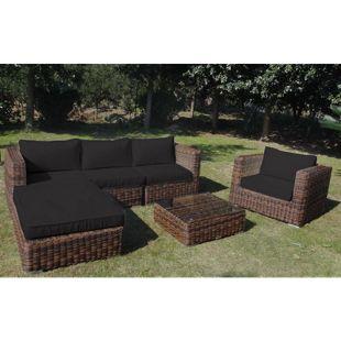 Baidani Rundrattan Garten Lounge Shining Select