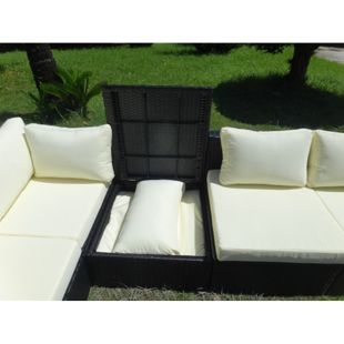 Baidani Rattan Garten Lounge Freedom Select integrierter Stauraum