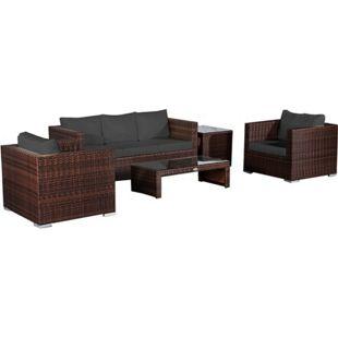Baidani Rattan Garten Lounge Pride Select integrierter Stauraum