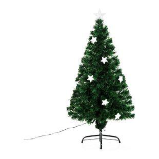 HOMCOM Weihnachtsbaum mit 16-LED-Lampen grün 60 x 120 cm (ØxH) | Tannenbaum Christbaum LED Xmas tree Lichtfaser