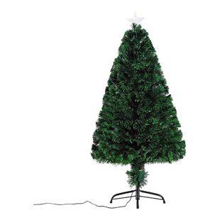 HOMCOM Weihnachtsbaum mit 130 LEDs grün 60 x 120 cm (ØxH) | Künstlicher Tannenbaum Christbaum LED Xmas tree