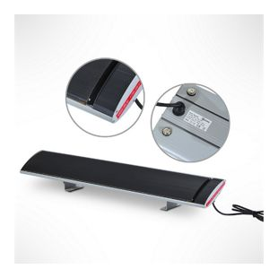 Outsunny Elektrischer Heizstrahler schwarz, silber 98 x 17 x 4,5 cm (LxBxH) | Terrassenstrahler Standheizstrahler Infrarotstrahler