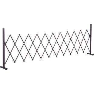 Outsunny Scherengitter ausziehbar dunkelbraun 300 x 31 x 103,5 cm (LxBxH) | Absperrgitter Scherensperre Türgitter Absperrzaun
