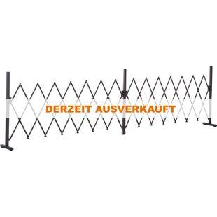Outsunny Absperrgitter ausziehbar dunkelbraun 405 x 31 x 103,5 cm (LxBxH) | Scherengitter Scherensperre Türgitter Absperrzaun